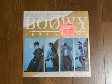 送料無料/BOOWY JUST A HERO LP歌詞カード付き盤面美品