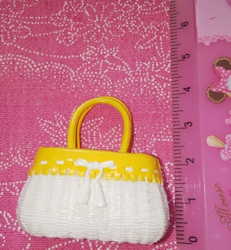 リーメントデパートショッピング2F服飾雑貨(ヤング)カゴバッグのみ廃盤ミニチュア食玩