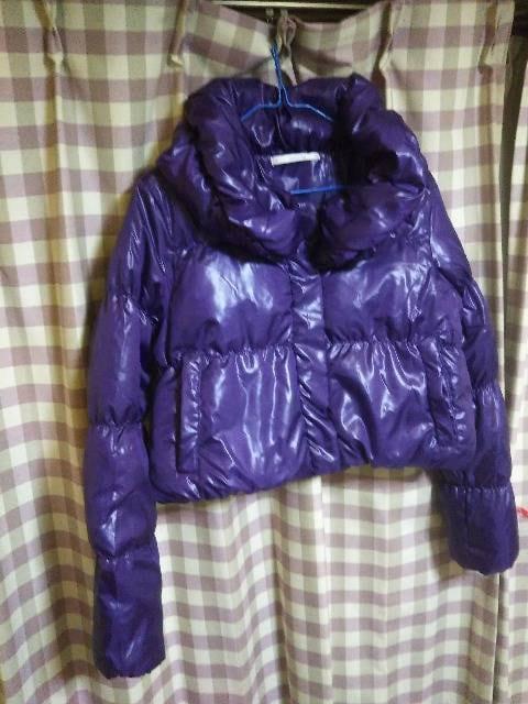 ★Carne lian ダウン ジャケット ジャンバー サイズM パープル系★  < 女性ファッションの