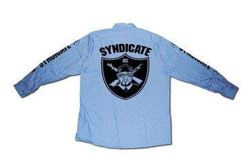 SYNDICATE★OG長袖ワークシャツ★L★青★新品