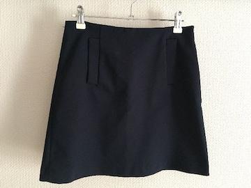 ザラ ZARA 台形 ミニスカート 紺 ネイビー ワンピース
