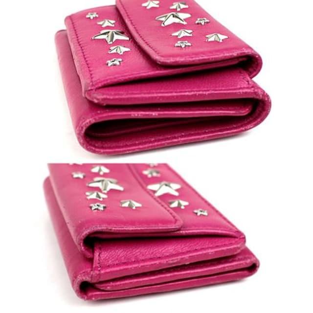 ジミーチュウ ミニ財布 三つ折り財布 札入れ 小銭入れ カード入れ j508 < ブランドの