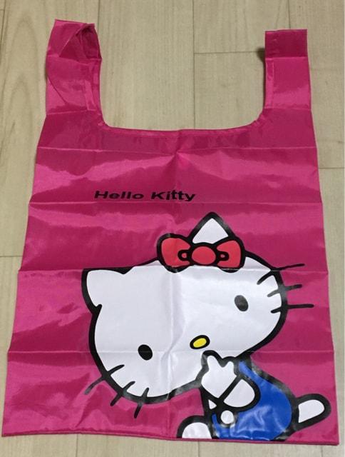 1円スタート☆ハローキティ 軽くて大きなエコバッグ 送料140円  < 女性ファッションの