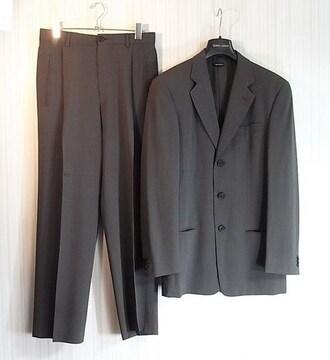 size46☆美品☆アルマーニクラシコ シルク混3釦スーツ グレー