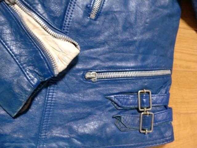 ヴィンテージ 70年代 フランス製 ライダースジャケット L < 男性ファッションの
