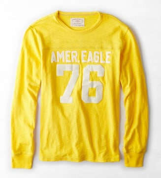 【American Eagle】AEOシグネチャーアップリケロングスリーブTシャツ XXXL/ディジョン