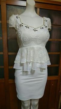 Jewels  白レース セパレート ミニドレス