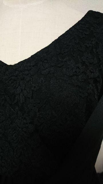 ☆新品☆大きいサイズ4L背中見せレースセクシーワンピースBLACK < 女性ファッションの