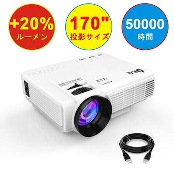 LED プロジェクター 小型 1800ルーメン 1080PフルHD