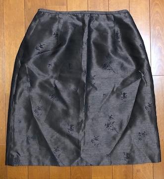 ダークブラウン刺繍☆スカート