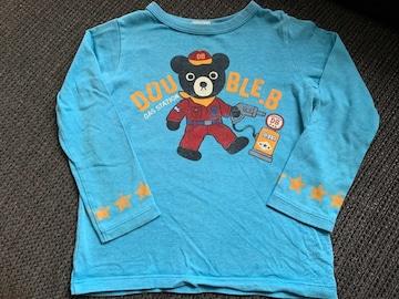 ミキハウスダブルB長袖Tシャツ120センチ