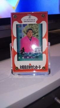 ★大相撲直筆サインカード★遠藤聖大★BBM2014★期待の若手