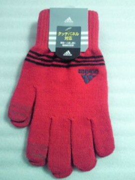 adidas アディダス タッチパネル対応 電導素材使用 手袋 グローブ ピンク