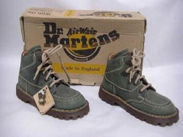 グリーン・ダメージ/革 編み上げ・ブーツ 8 Dr.Martens