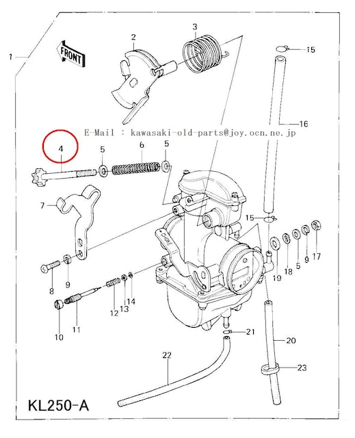 KL250 Z400 Z400D キャブスロットルストップ・スクリュー絶版 < 自動車/バイク