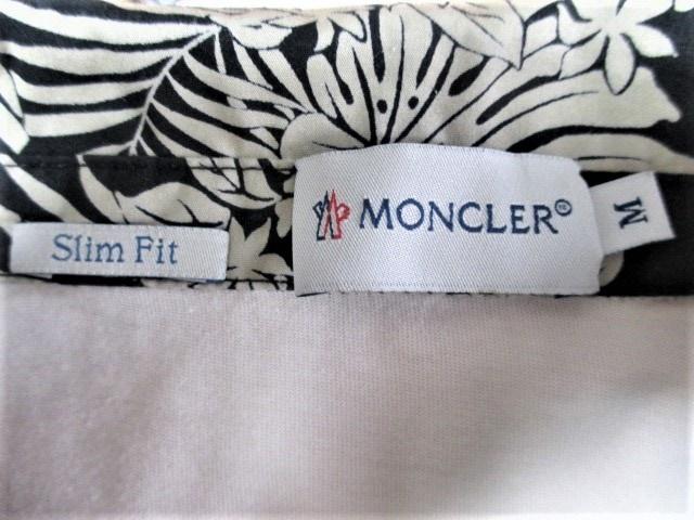 ☆MONCLER モンクレール リーフ柄襟 ワッペン ポロシャツ/メンズ/M☆国内正規品 < ブランドの