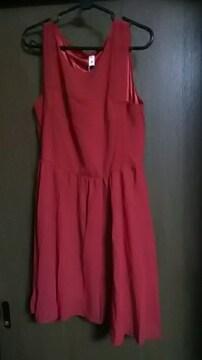 新品*タグ付き*真っ赤なシフォンワンピース