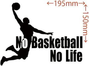 ステッカー No Basketball No Life (バスケットボール)・1