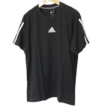 新品◆送料無料◆アディダス 黒袖3stTシャツ(M)