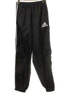 adidasアディダス☆3本ライン黒パンツ
