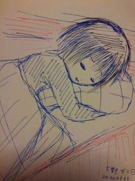 栃木県の男の子(兄)�@オリジナル自作イラスト原画