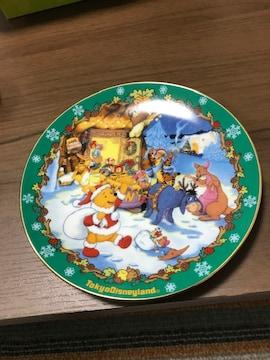 東京ディズニーランド限定クリスマスプレート皿2001直径16.5cm