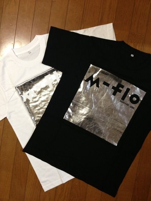 m-flo「SQUQRE ONE」LIVE購入 レア Tシャツ(黒) < タレントグッズの