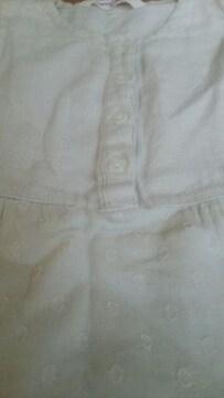 ベリーズベリー 110センチ 袖無し ワンピース キナリ 綿100%