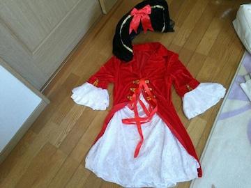 レディース コスプレ 女 海賊 ハロウィン 赤  帽子 セット 衣装