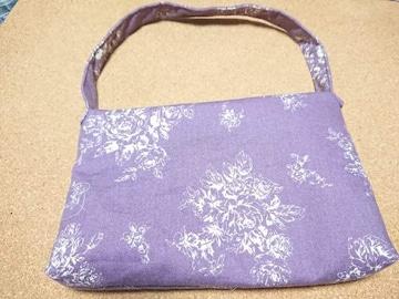 ハンドメイド ショルダーバッグ(紫)