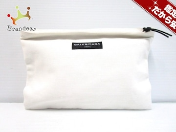 BALENCIAGA(バレンシアガ) クラッチバッグ - 459745 白 キャンバス
