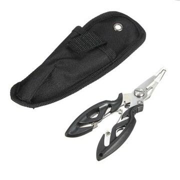 ケース付き スプリットリングプライヤー ペンチ かしめ 針外し黒