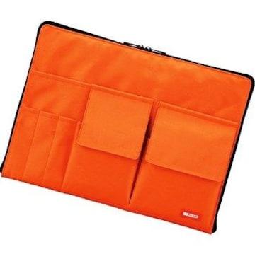 ★即日発送★ バッグインバッグ 整理 A4 橙 他カラー有