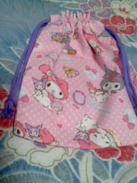マイメロ・クロミ巾着袋ピンク