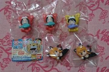 ワンピースニャンピースマスコット☆5点セット/ガシャポン