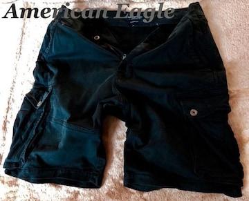 【アメリカンイーグル】Vintage カーゴショーツ 34/Black