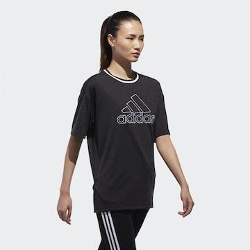 アディダス*adidas*MOUSSYコラボ★ビッグロゴTシャツ(OT)/新品ブラック