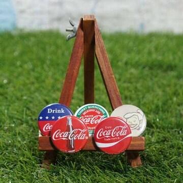 新品【缶バッジ】Coca-Cola/コカコーラ -5個セット-