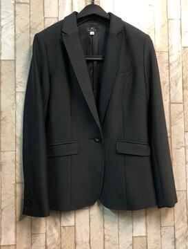 新品☆9号プチサイズつやもち素材のテーラードジャケット黒s883