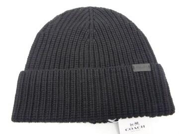COACH コーチ メンズニット帽 F86553 BK