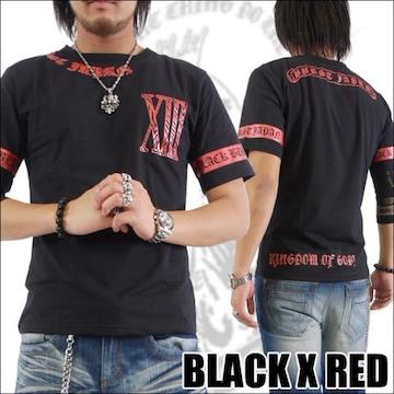 メール便送料無料【MAD BURST JAPAN】70562Tシャツ黒赤L