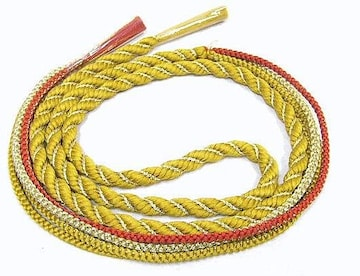 送料無料 わけあり品 お振袖用正絹帯〆 金糸雀色 73 未使用品