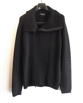 size50☆美品☆エンポリオアルマーニ ニット製ラップジャケット