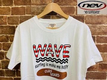 表記XL/新品!ネブサーフ 1980年創立 サーフプリント Tシャツ 白 アメカジ サーファー