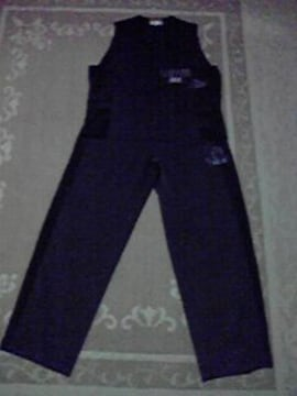 ヤンキー、不良系 新品 スーツ風 セットアップ LL 黒