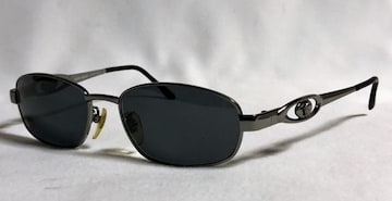 正規美 ヴェルサーチVERSACE ヴィンテージ メデューサメタルサングラス黒×クローム 眼鏡