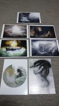 ポストカード7 枚エイリアンHRギーガー幻想絵画+ハリウッドSFX展