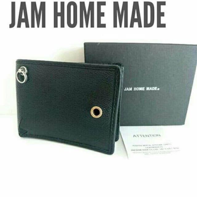 正規 jam home made レザー 財布 ウォレット 黒 ブラック 箱付き  < ブランドの