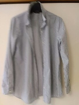 リラローブ 紺&白長袖シャツ 綿100