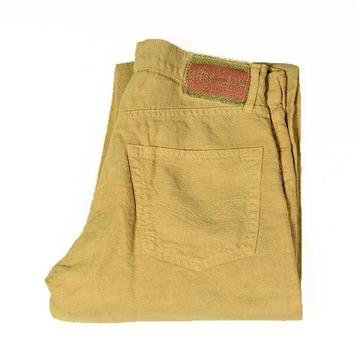 サイズM ブルーウェイ)日本製 綿麻 ストレート パンツ